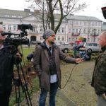 Wojciech Kamiński, przyrodnik z Wigierskiego Parku Narodowego udziela wywiadu TVP Białystok
