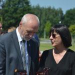 Senator RP Marek Komorowski i Alicja Andrulewicz, dyrektor Suwalskiego Ośrodka Kultury